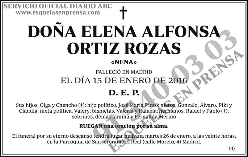 Elena Alfonsa Ortiz Rozas